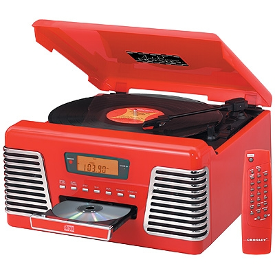 AutoRama CD-Red Turntables - Crosley