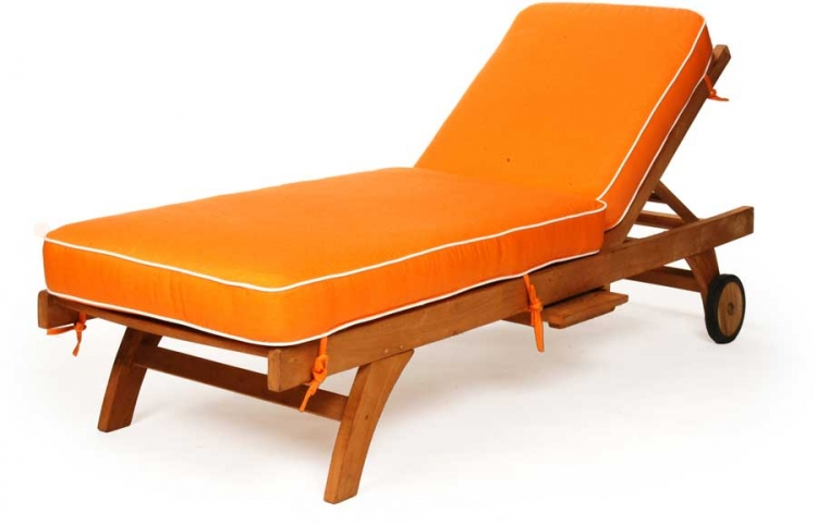 Teak Single Chaise - Caluco