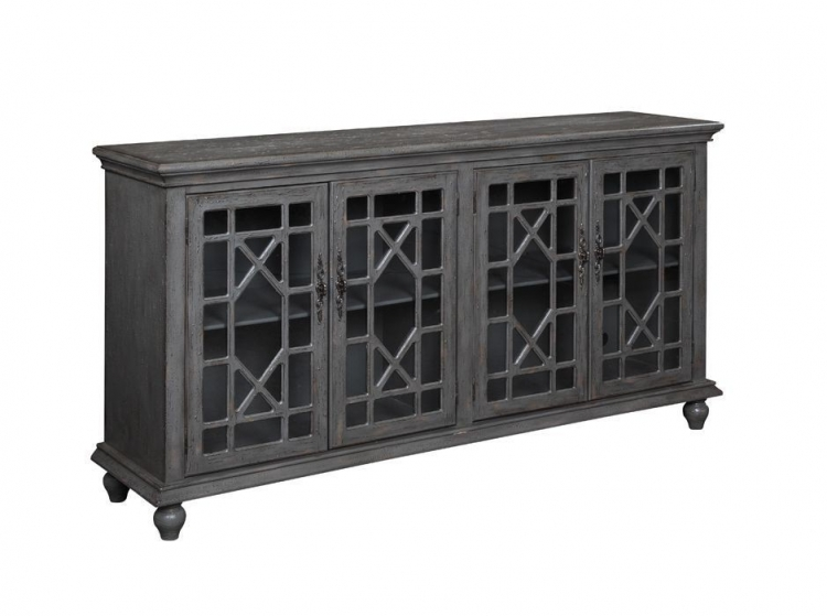 61711 Four Door Media Credenza