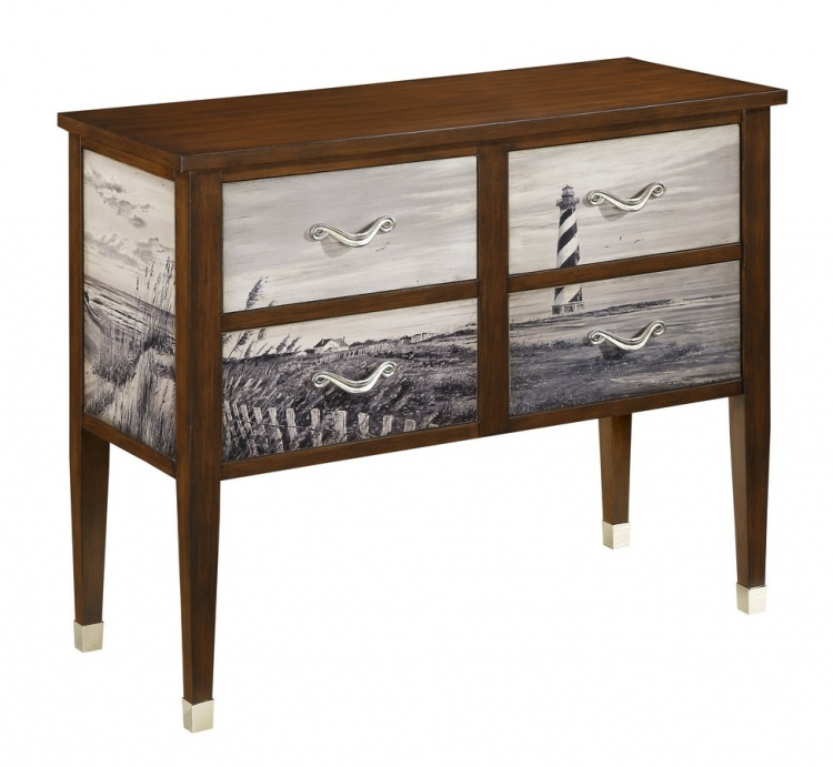 67480 Four Drawer Console