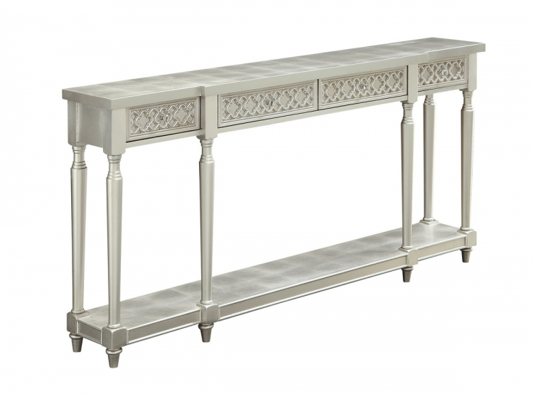 70777 Four Drawer Console Table