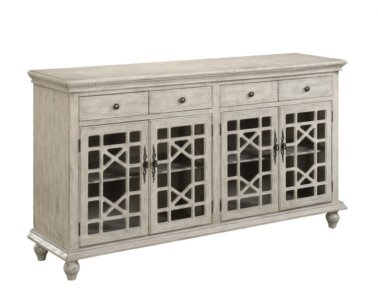 70828 Four Door Four Drawer Media Credenza