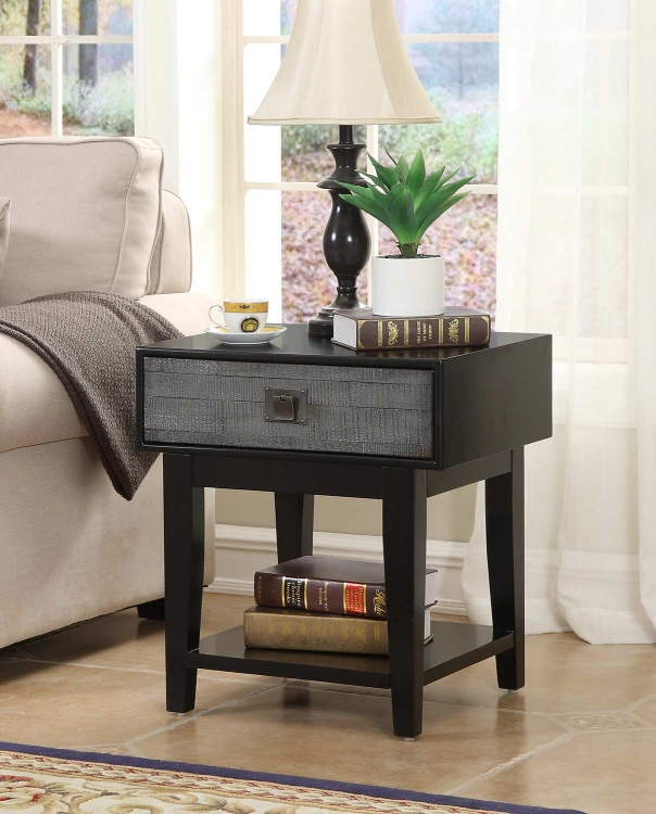 78654 One Drawer End Table