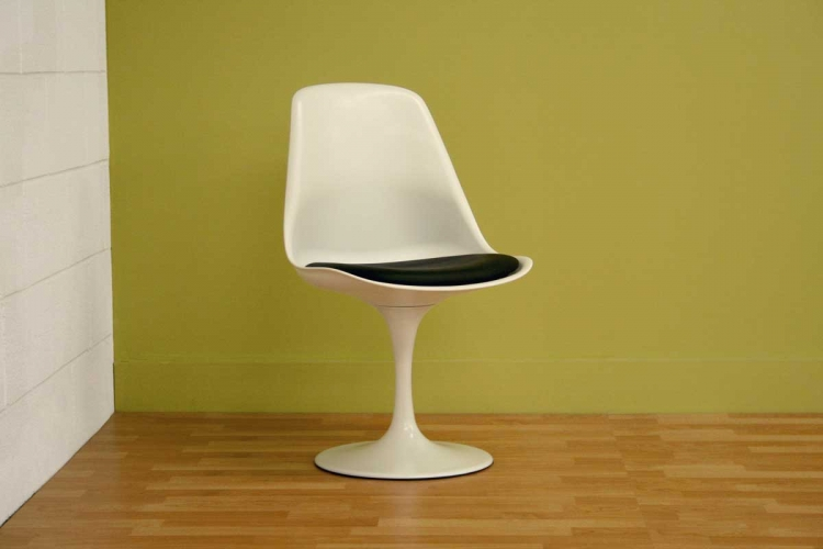 DC-211B White Accent Chair
