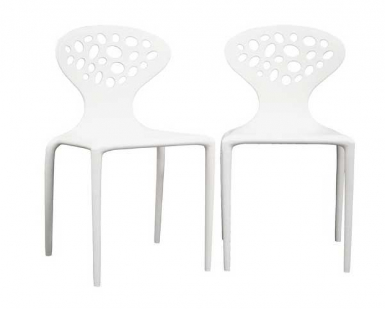 DC-317 White Accent Chair - Wholesale Interiors