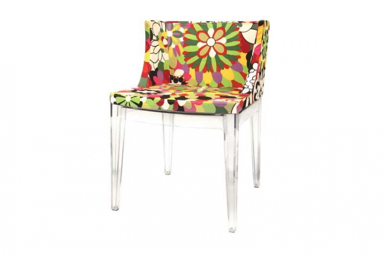 Fiore Floral Patterned Acrylic Accent Chair - Wholesale Interiors