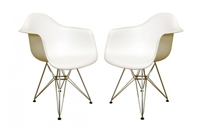 DC-622C White Accent Chair