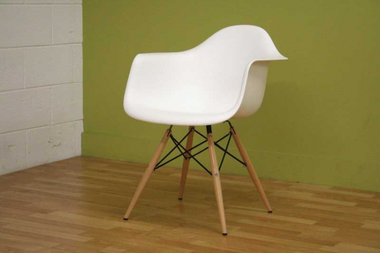 Pascal White Accent Chair
