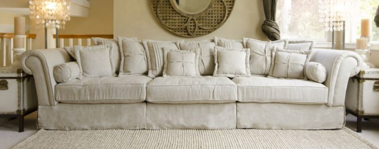 Bella Fabric Sectional Sofa Collection - Sand
