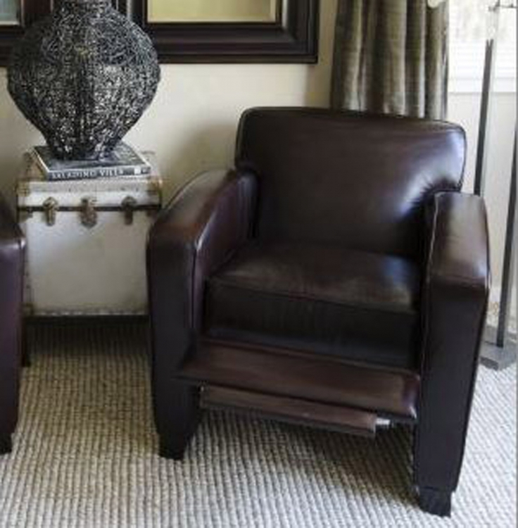 Brady Top Grain Leather Reclining Chair - Cappuccino