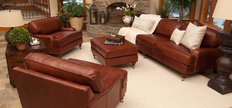 Cambridge 4-Piece Top Grain Leather Collection - Acorn - ELEMENTS Fine Home Furnishings - ELEMENTS Fine Home Furnishings
