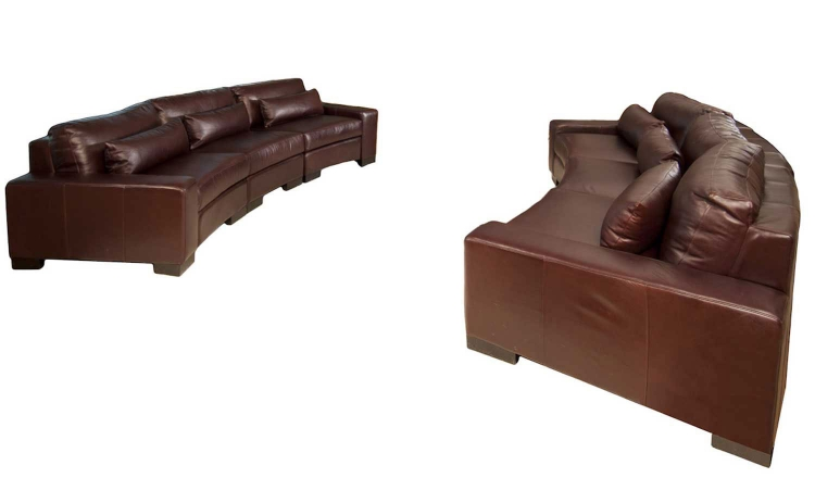 Loft 2-Piece Top Grain Leather Sectional Collection - Sable - ELEMENTS Fine Home Furnishings