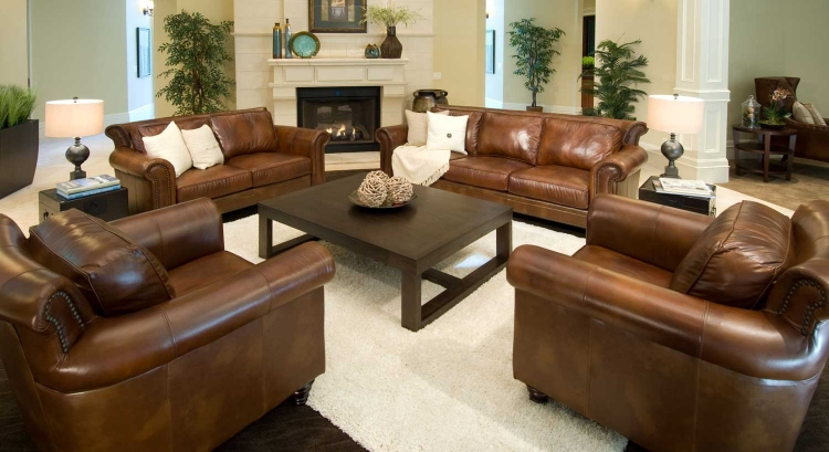 Paladia 4-Piece Top Grain Leather Collection - Rustic