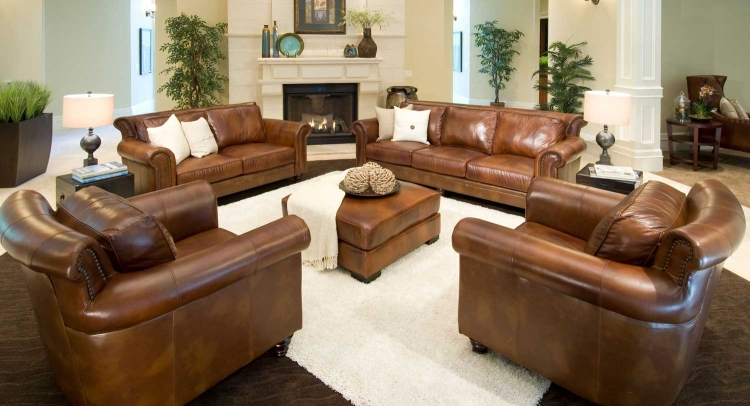 Paladia 5-Piece Top Grain Leather Collection - Rustic - ELEMENTS Fine Home Furnishings