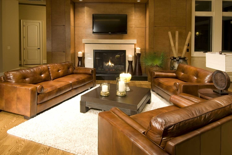Soho 3-Piece Top Grain Leather Collection - Rustic