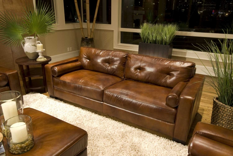 Soho Top Grain Leather Sofa - Rustic - ELEMENTS Fine Home Furnishings