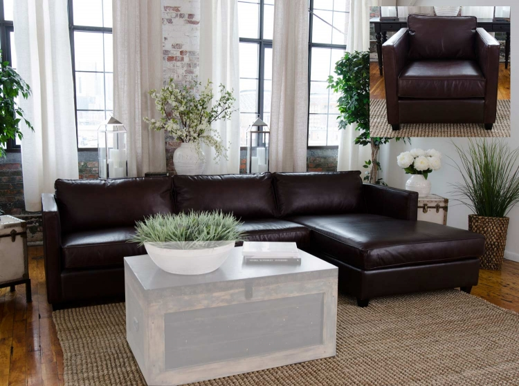 Urban 2-Piece Top Grain Leather Collection - Cappuccino