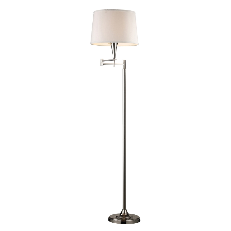 10109/1 Swingarm Floor Lamp - Polished Chrome - Elk Lighting