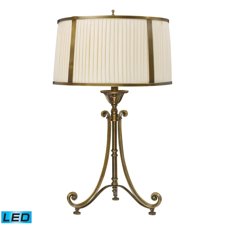 11052/1-LED Williamsport Table Lamp - Vintage Brass Patina