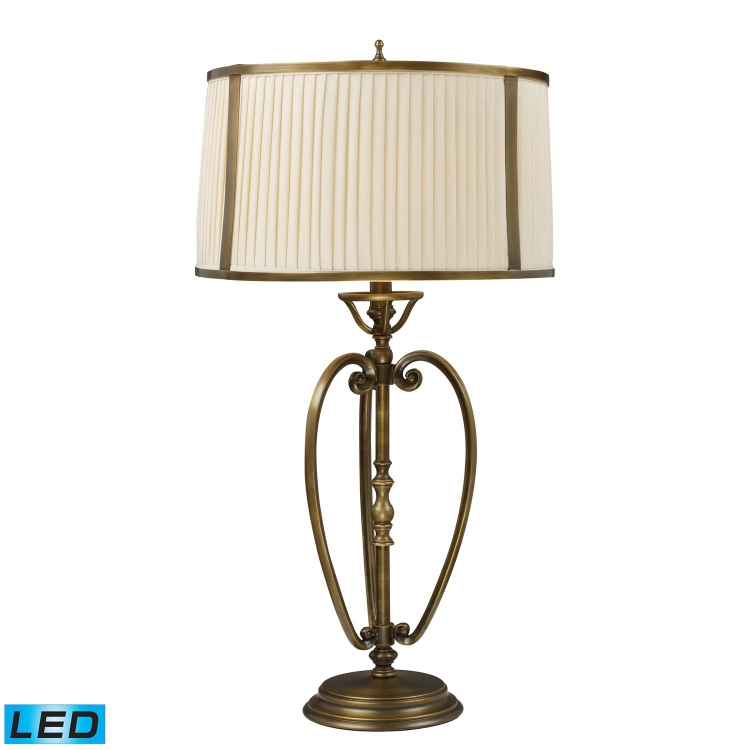 11053/1-LED Williamsport Table Lamp - Vintage Brass Patina
