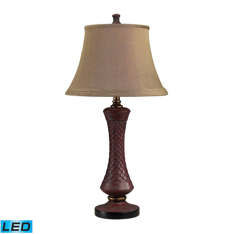 113-1118-LED Columbia Place Table Lamp - Toledo Distressed Red - Elk Lighting