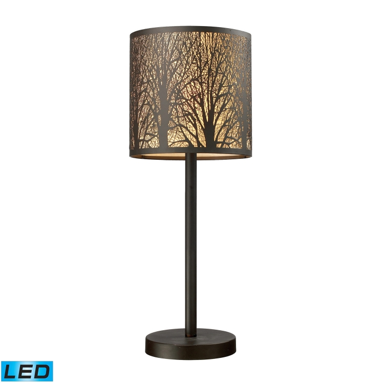 31072/1-LED Woodland Sunrise Table Lamp - Aged Bronze