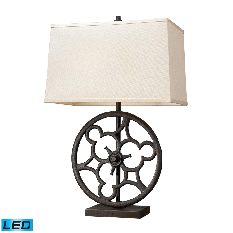 65112-2-LED Ironton Table Lamp - Vintage Rust