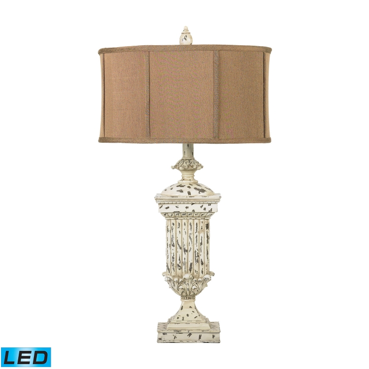 93-029-LED Morgan Hill Table Lamp - Distressed White