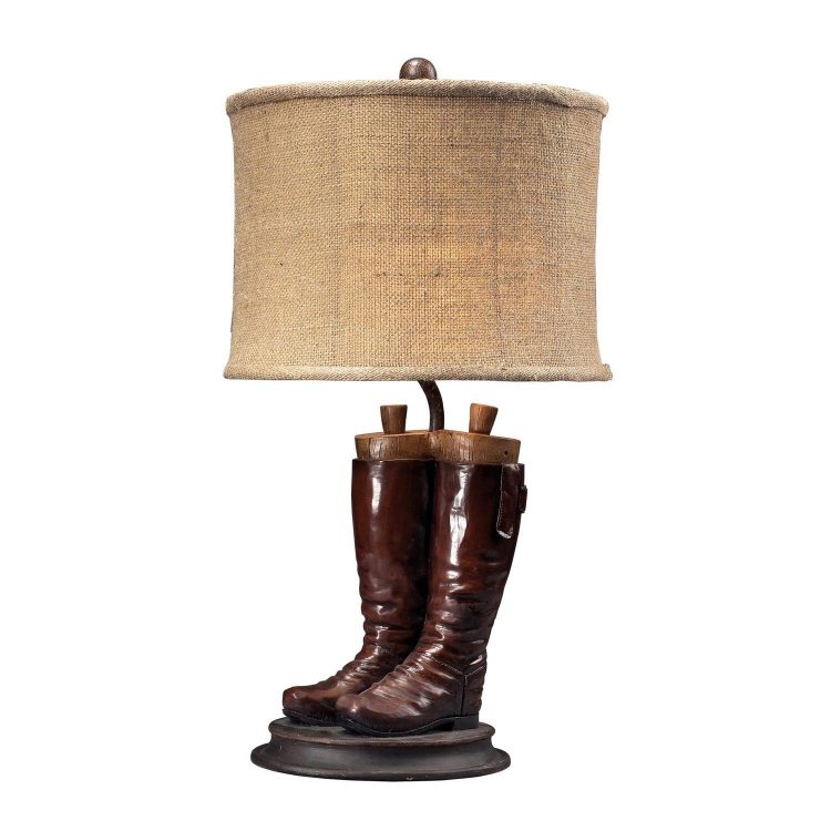 93-10012 Wood River Table Lamp - Polished Tan