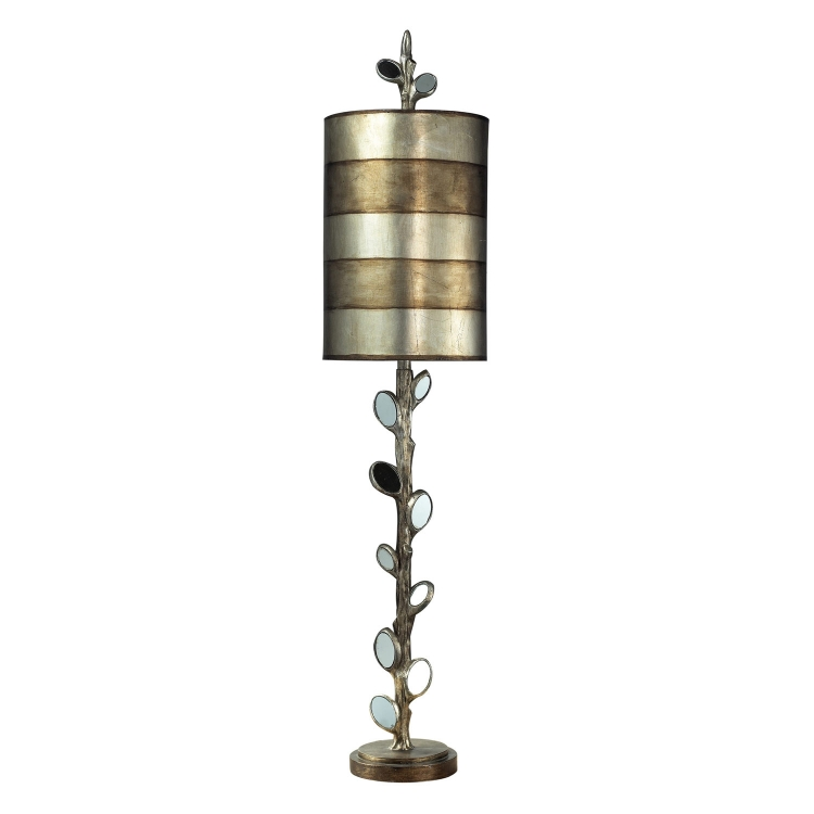 93-9111 Amherst Table Lamp - Mirror and Antique Silver