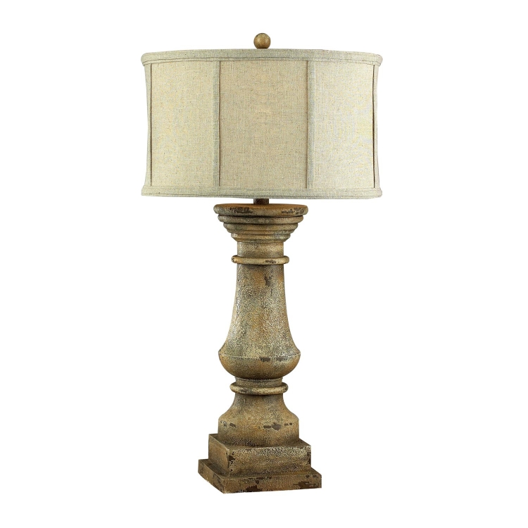 93-9121 Cahors View Table Lamp - Monkstown Distressed Beige