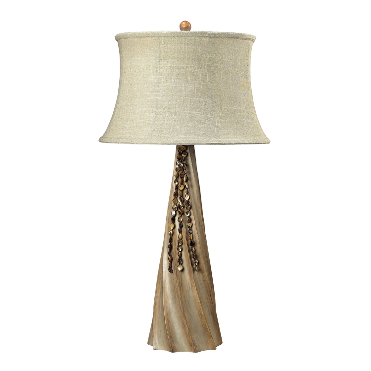 93-9242 Rest Haven Table Lamp - Bleached Wood