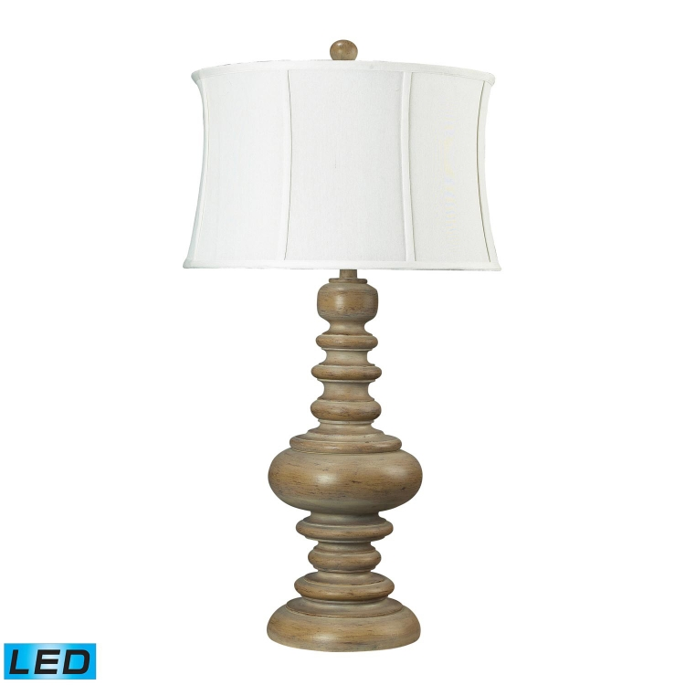 93-9244-LED Moniac Table Lamp - Bleached Wood - Elk Lighting