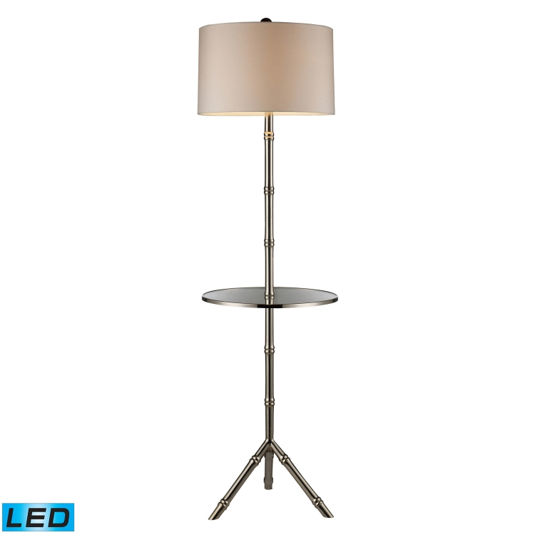 D1403S-LED Stanton Floor Lamp - Silver Plated
