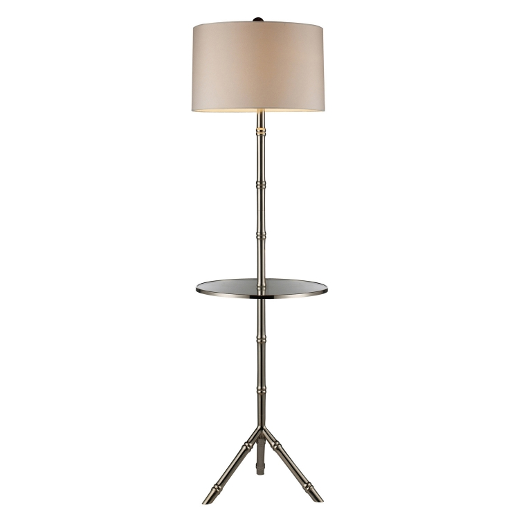 D1403S Stanton Floor Lamp - Silver Plated