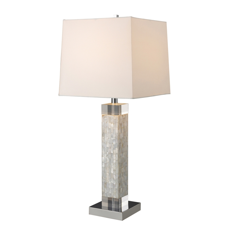 D1412 Luzerne Table Lamp - Mother Of Pearl