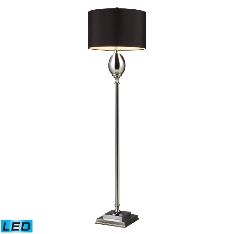 D1427B-LED Waverly Floor Lamp - Chrome Plated Glass