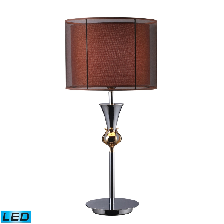 D1467-LED Dunbar Table Lamp - Chrome and Gold Plate