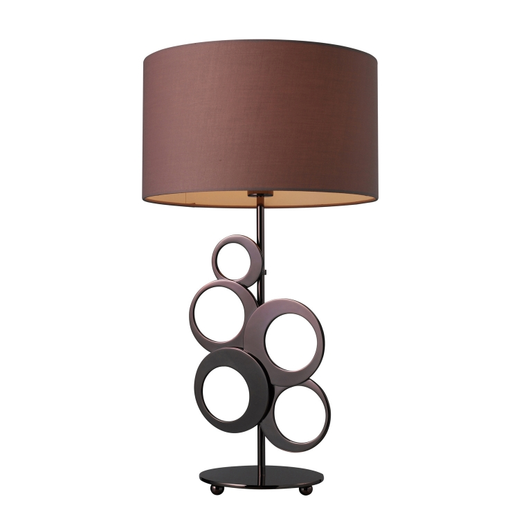 D1484 Addison Table Lamp - Chocolate Plating