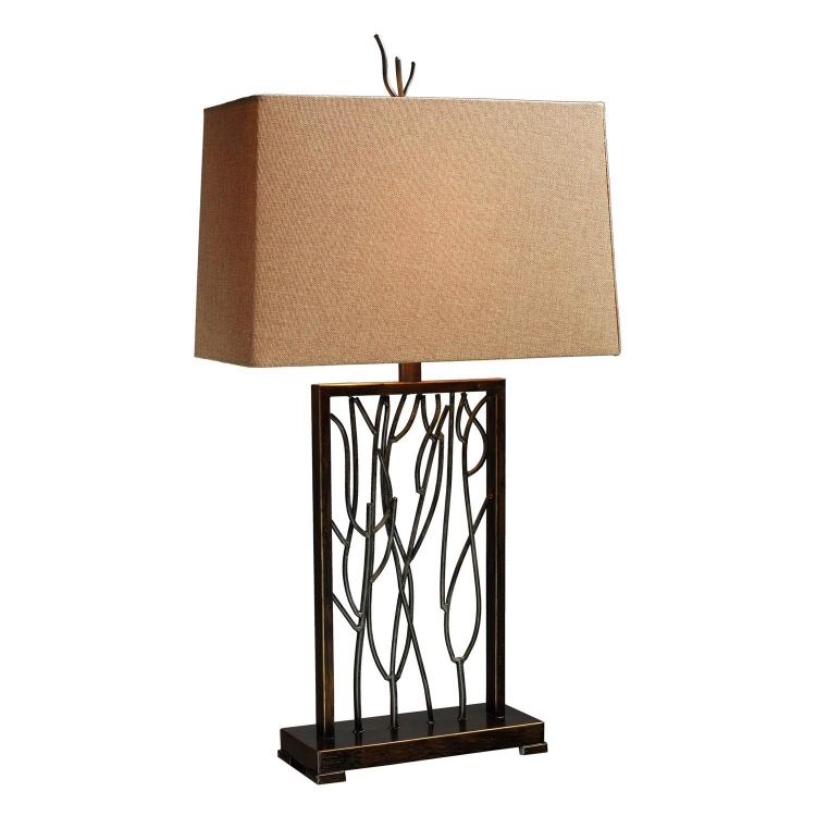 D1518 Belvior Park Table Lamp - Aria Bronze and Iron
