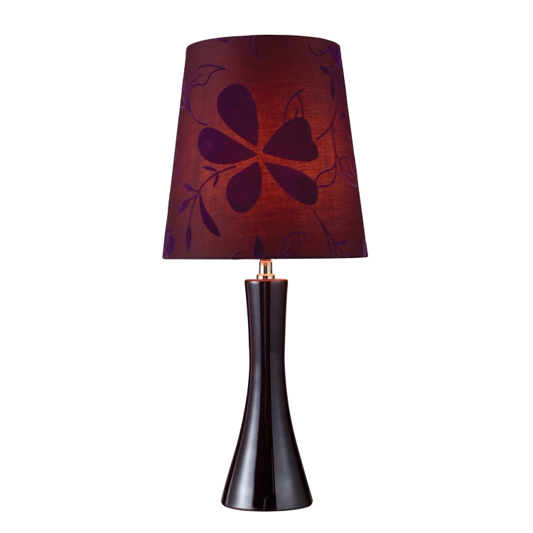 D1591 Cressona Table Lamp - Black Berry