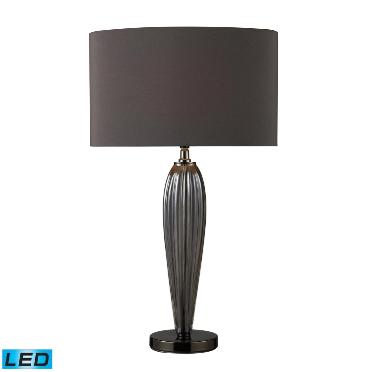 D1597-LED Carmichael Table Lamp - Steel Smoked and Black Nickel