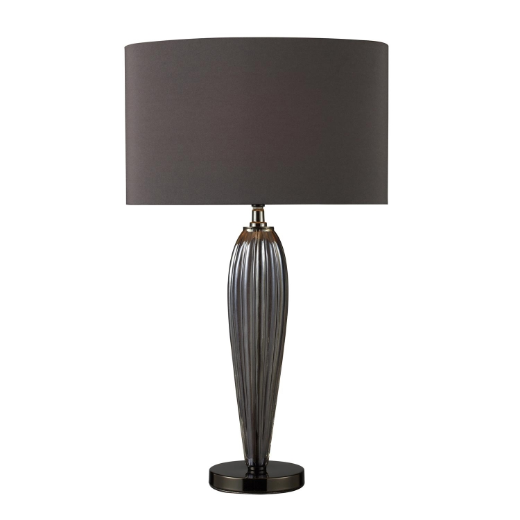 D1597 Carmichael Table Lamp - Steel Smoked and Black Nickel
