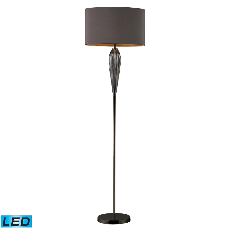 D1598-LED Carmichael Floor Lamp - Steel Smoked and Black Nickel - Elk Lighting
