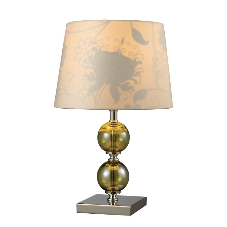 D1610 Sharon Hill Table Lamp - Vivi Green and Polished Nickel