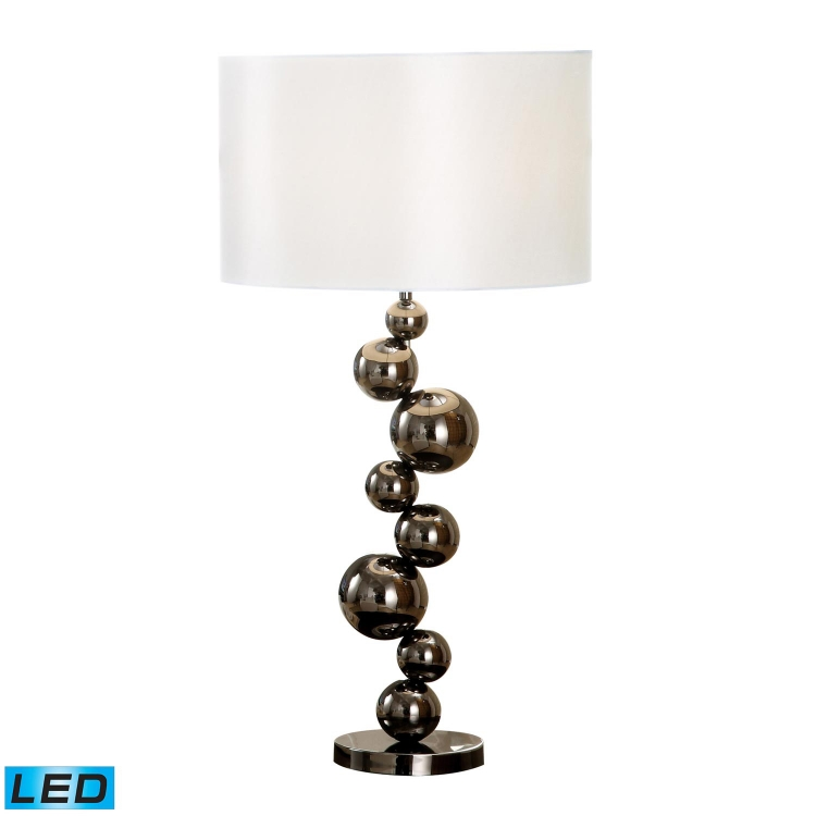 D1618-LED Cleona Table Lamp - Black Chrome