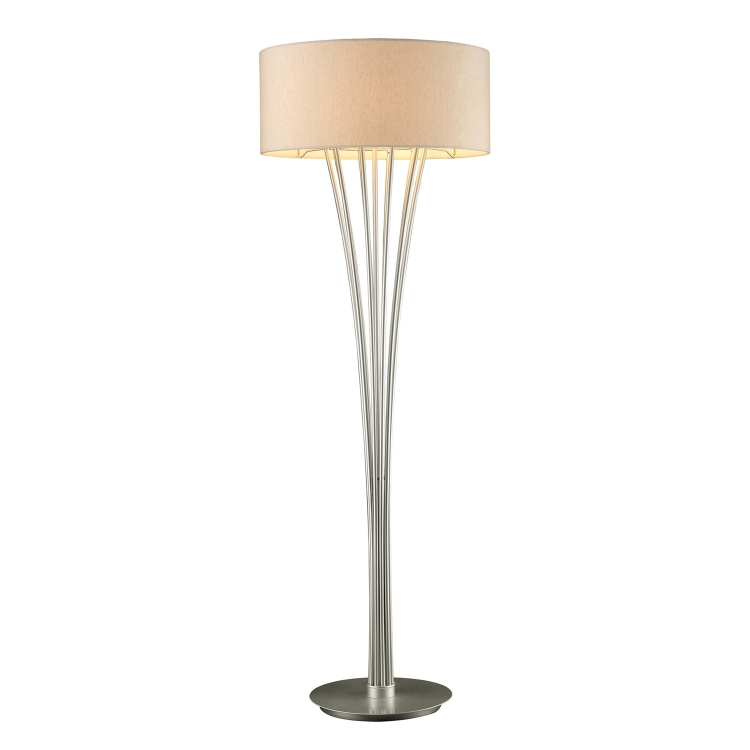 D1710 Hudson Floor Lamp - Glacier Silver - Elk Lighting