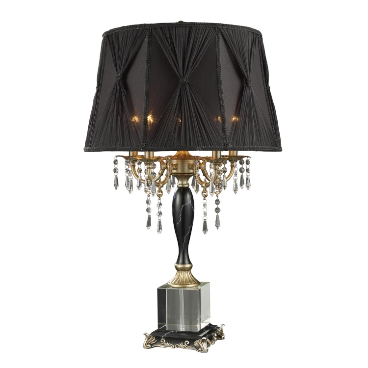 D1744 Mount Caufield Table Lamp - Black Faux Marble - Elk Lighting