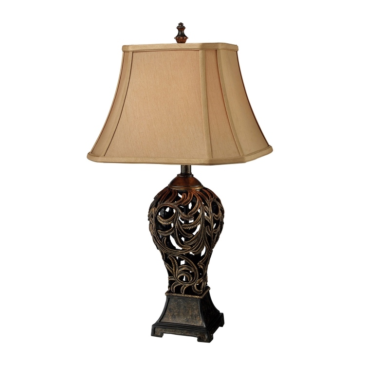 D1757 Allegra Table Lamp - Buthan Bronze - Elk Lighting