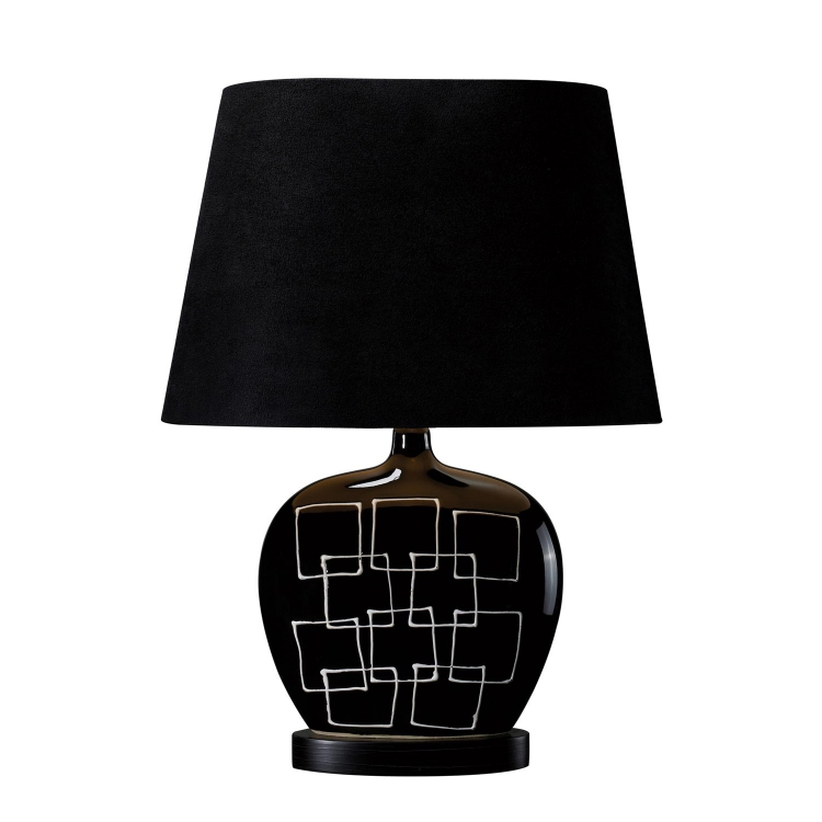 D1766 Capelle Table Lamp - Gloss Black - Elk Lighting